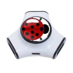 Ladybug Insects Colors Alegre 3 Port Usb Hub