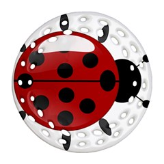 Ladybug Insects Colors Alegre Ornament (round Filigree)