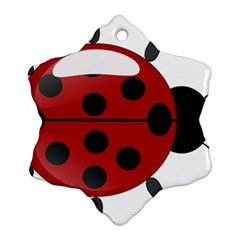 Ladybug Insects Colors Alegre Snowflake Ornament (two Sides)