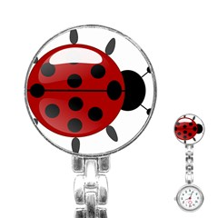 Ladybug Insects Colors Alegre Stainless Steel Nurses Watch
