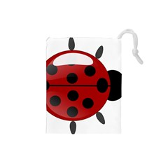 Ladybug Insects Colors Alegre Drawstring Pouches (small)
