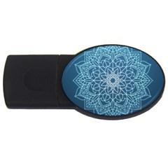 Mandala Floral Ornament Pattern Usb Flash Drive Oval (2 Gb)