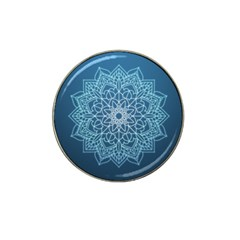 Mandala Floral Ornament Pattern Hat Clip Ball Marker (10 Pack)