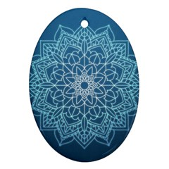 Mandala Floral Ornament Pattern Oval Ornament (two Sides)