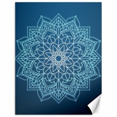 Mandala Floral Ornament Pattern Canvas 18  X 24