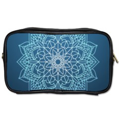 Mandala Floral Ornament Pattern Toiletries Bags 2 Side