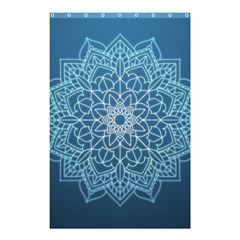 Mandala Floral Ornament Pattern Shower Curtain 48  X 72  (small)