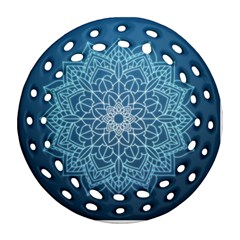 Mandala Floral Ornament Pattern Round Filigree Ornament (two Sides)