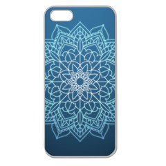 Mandala Floral Ornament Pattern Apple Seamless Iphone 5 Case (clear)
