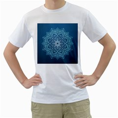 Mandala Floral Ornament Pattern Men s T Shirt (white)