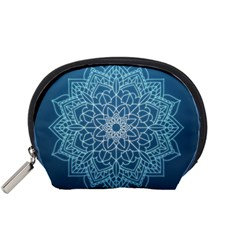 Mandala Floral Ornament Pattern Accessory Pouches (small)