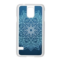 Mandala Floral Ornament Pattern Samsung Galaxy S5 Case (white)