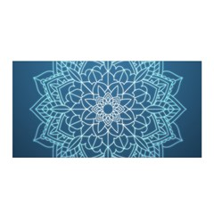 Mandala Floral Ornament Pattern Satin Wrap