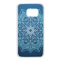 Mandala Floral Ornament Pattern Samsung Galaxy S7 White Seamless Case