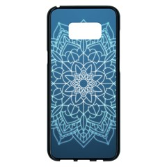 Mandala Floral Ornament Pattern Samsung Galaxy S8 Plus Black Seamless Case