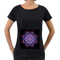 Mandala Circular Pattern Women s Loose Fit T Shirt (black)