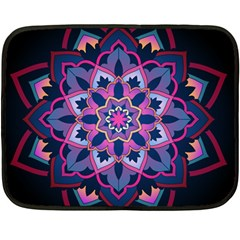 Mandala Circular Pattern Double Sided Fleece Blanket (mini)