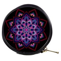 Mandala Circular Pattern Mini Makeup Bags