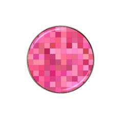 Pink Square Background Color Mosaic Hat Clip Ball Marker (10 Pack)