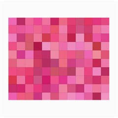Pink Square Background Color Mosaic Small Glasses Cloth