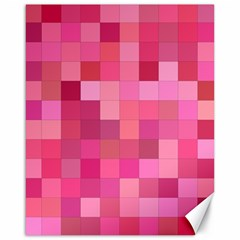 Pink Square Background Color Mosaic Canvas 16  X 20