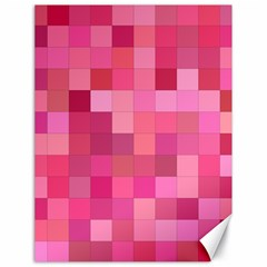 Pink Square Background Color Mosaic Canvas 18  X 24