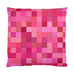 Pink Square Background Color Mosaic Standard Cushion Case (two Sides)