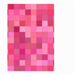 Pink Square Background Color Mosaic Small Garden Flag (two Sides)
