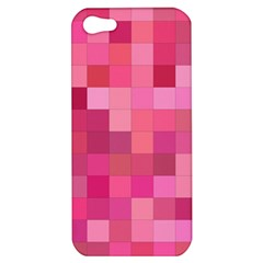 Pink Square Background Color Mosaic Apple Iphone 5 Hardshell Case