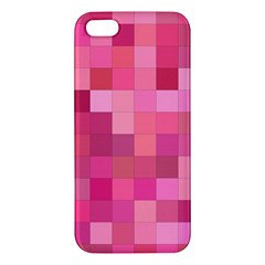 Pink Square Background Color Mosaic Apple Iphone 5 Premium Hardshell Case