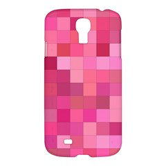 Pink Square Background Color Mosaic Samsung Galaxy S4 I9500/i9505 Hardshell Case