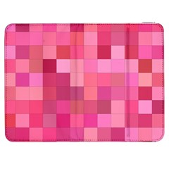 Pink Square Background Color Mosaic Samsung Galaxy Tab 7  P1000 Flip Case