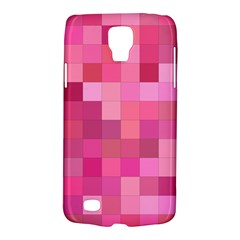 Pink Square Background Color Mosaic Galaxy S4 Active