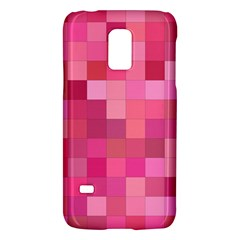Pink Square Background Color Mosaic Galaxy S5 Mini