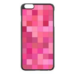 Pink Square Background Color Mosaic Apple Iphone 6 Plus/6s Plus Black Enamel Case