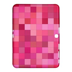 Pink Square Background Color Mosaic Samsung Galaxy Tab 4 (10 1 ) Hardshell Case