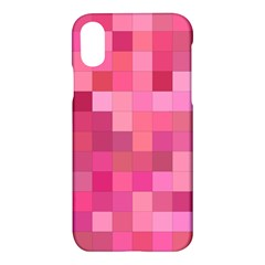 Pink Square Background Color Mosaic Apple Iphone X Hardshell Case