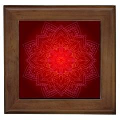 Mandala Ornament Floral Pattern Framed Tiles