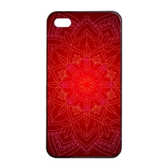 Mandala Ornament Floral Pattern Apple Iphone 4/4s Seamless Case (black)