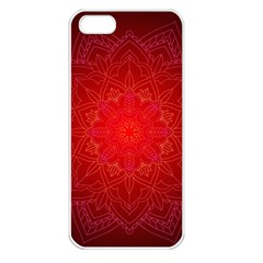 Mandala Ornament Floral Pattern Apple Iphone 5 Seamless Case (white)