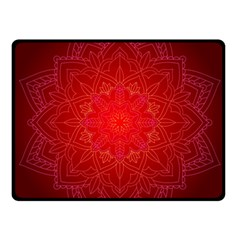 Mandala Ornament Floral Pattern Double Sided Fleece Blanket (small)