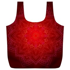 Mandala Ornament Floral Pattern Full Print Recycle Bags (l)