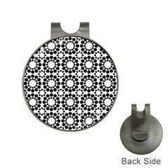 Pattern Seamless Monochrome Hat Clips With Golf Markers
