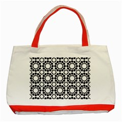 Pattern Seamless Monochrome Classic Tote Bag (red)
