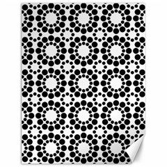 Pattern Seamless Monochrome Canvas 12  X 16