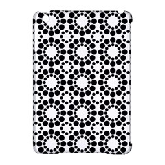 Pattern Seamless Monochrome Apple Ipad Mini Hardshell Case (compatible With Smart Cover)