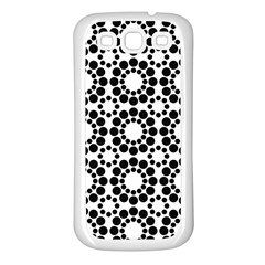 Pattern Seamless Monochrome Samsung Galaxy S3 Back Case (white)