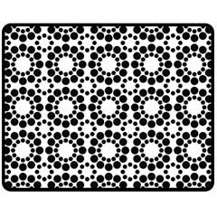 Pattern Seamless Monochrome Double Sided Fleece Blanket (medium)