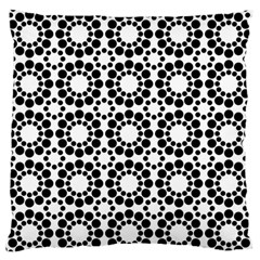 Pattern Seamless Monochrome Large Flano Cushion Case (one Side)