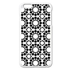 Pattern Seamless Monochrome Apple Iphone 6 Plus/6s Plus Enamel White Case